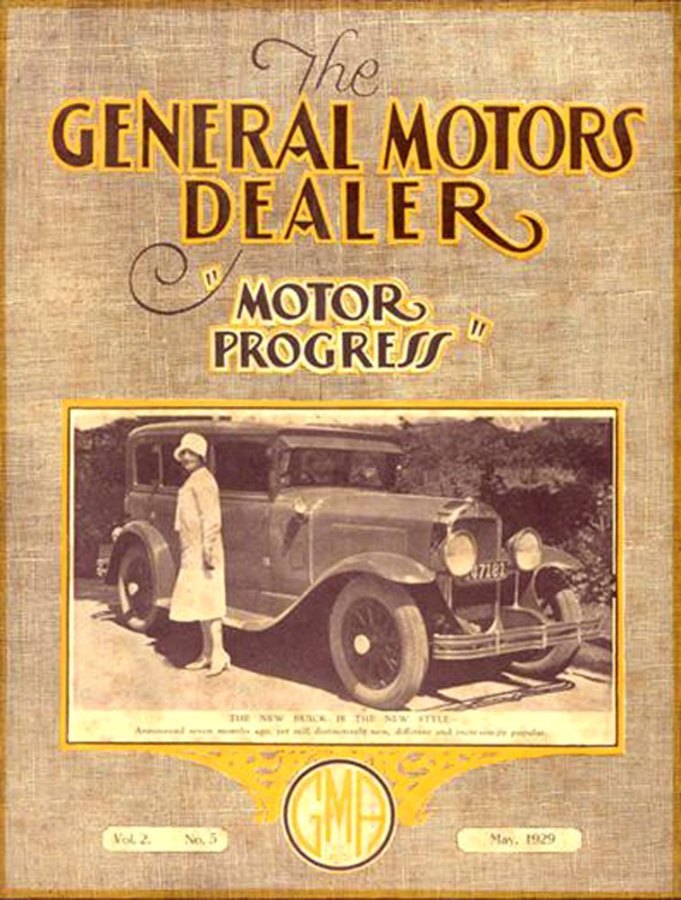 1929 motor progress the general motors dealer buick car club. Cars Review. Best American Auto & Cars Review